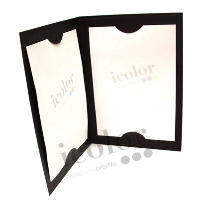 Carta con interior en papel verjurado