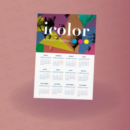 Calendario lámina A3