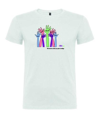 camiseta solidaria manos
