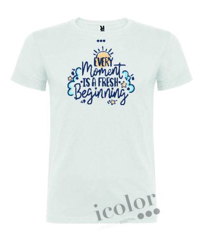 Camiseta con frase inspiradora moment