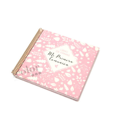 Libro primera comunión topos rosa