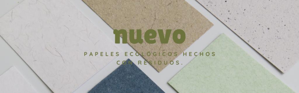 papel fabricado con residuos