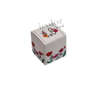 Caja de regalos para detalle de bodas iniciales