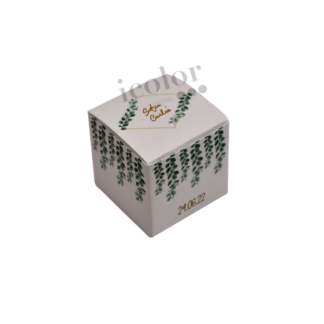 Caja para detalle de boda ramas