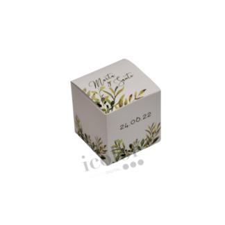 Caja para detalle de boda hojas