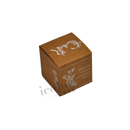 Caja para detalle de boda con tinta blanca