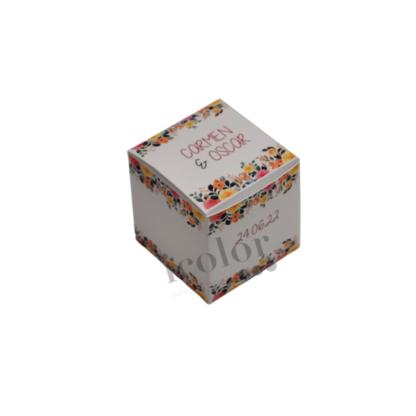 Caja de regalo para boda flores