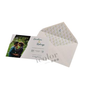 Invitacion de boda personalizada con foto