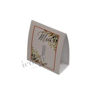 Marca mesa hojas